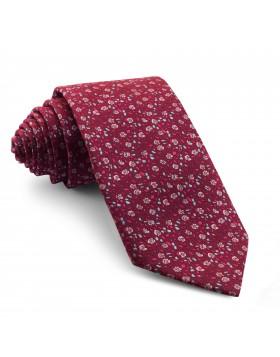 Corbata Fucsia Oscuro Flores