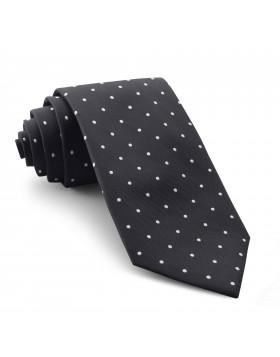 Corbata Negra Lunares