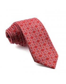 Corbata Roja Cachemir en tonos Rojos y Azules