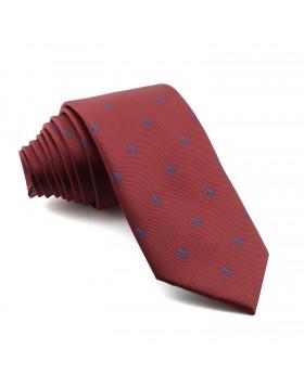 Corbata Burdeos Flor de Lis