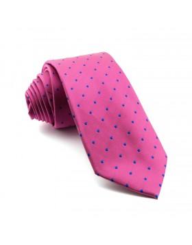 Corbata Rosa Lunares Azules