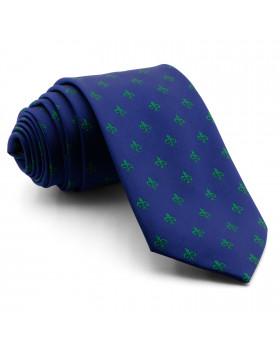 Corbata Azul Cruz de Santiago Verde