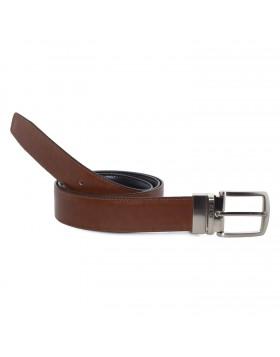 Cinturón Piel Reversible en Marrón Castaño para hombre