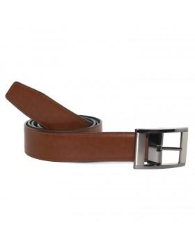 Cinturón Piel Reversible Marrón Castaño Ancho para hombre