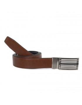 Cinturón Piel Reversible Cognac para hombre