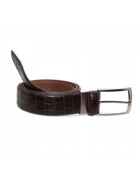 Cinturón Marrón Grabado PARA HOMBRE