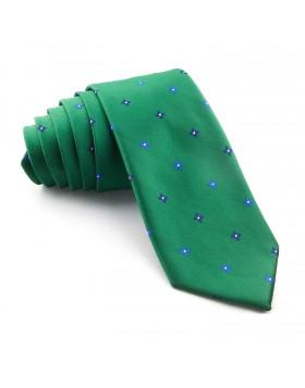 Corbata Verde Flores