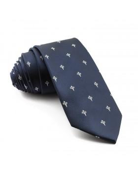 Corbata Marino Cruz de Santiago Blanco