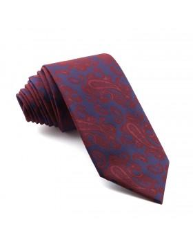 Corbata Marino Cachemir Burdeos