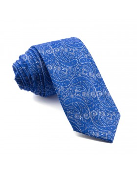 Corbata Azul Cachemir con dibujos Originales
