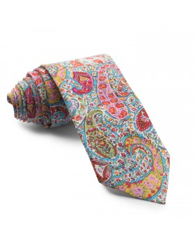 Corbata Turquesa Flores
