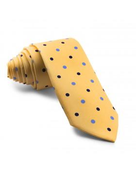 Corbata Amarilla Lunares