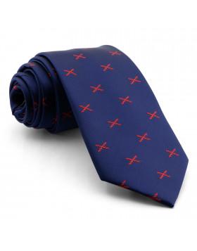Corbata Marino Cruz Borgoña