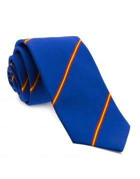 Corbata Azul con Rayas colores de España