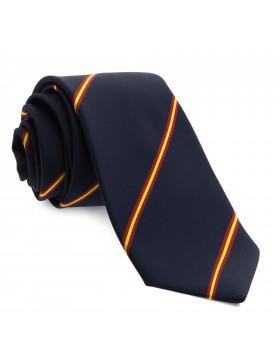 Corbata Marino con Rayas colores de España