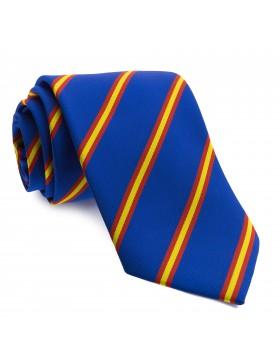 Corbata Azul con Rayas colores de Bandera de España