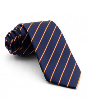Corbata Azul Marino con Rayas colores de España