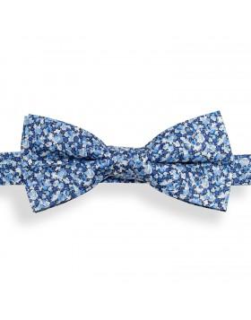 Pajarita Flores Azules