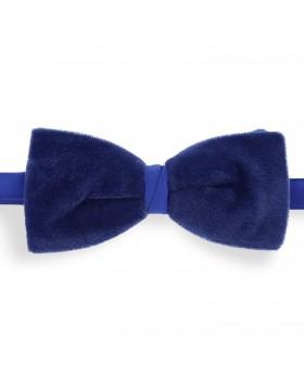 Pajarita Terciopelo Azul