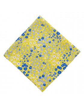 Pañuelo Amarillo Flores Azules