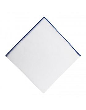 Pañuelo Lino Contraste Azulón