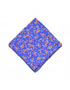 Pañuelo dibujos Cachemir con Tonos Naranjas
