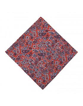 Pañuelo Rojo Cachemires Azules