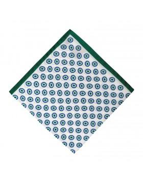 Pañuelo Blanco Dibujo Verde