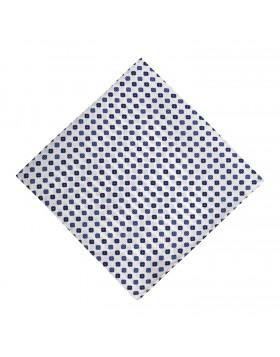 Pañuelo Blanco Dibujos Azules