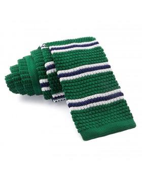 Corbata Punto Verde Rayas