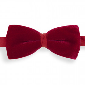 Pajarita Terciopelo Rojo