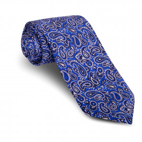 Corbata Cachemir Azul
