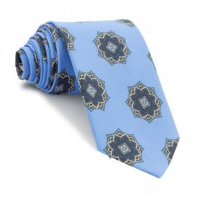 Corbata Azul Medallones Marino