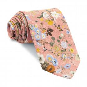 Corbata Rosa Flores