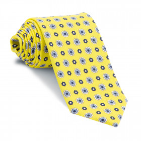 Corbata Amarilla Dibujos Azules