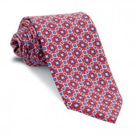 Corbata Roja Dibujos Azules