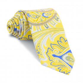 Corbata Amarilla Cachemires Azules y Celestes