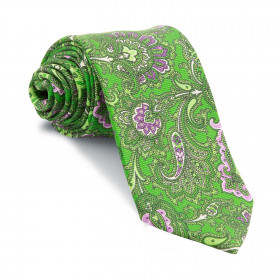 Corbata Verde Cachemires Malva