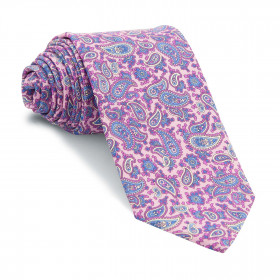 Corbata Rosa Cachemires Celestes