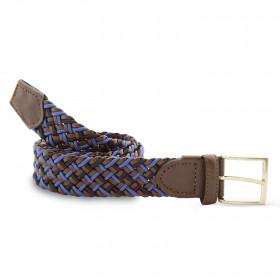 Cinturón Elástico Cuero Azul