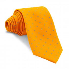 Corbata Naranja Lunares Azules