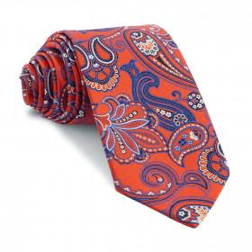 Corbata Roja Cachemires Azules