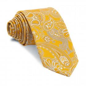 Corbata Amarillo Dorado Cachemires Celestes