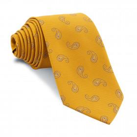 Corbata Amarillo Dorado Cachemires Azules