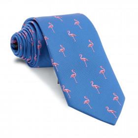 Corbata Azul Flamencos
