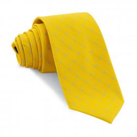 Corbata Amarilla Lunares Celestes
