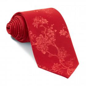 Corbata Roja Flores Rojas