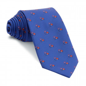 Corbata Azul Tractores Rojos