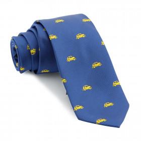 Corbata Azul Coches Amarillos