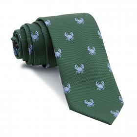 Corbata Verde Cangrejos Celestes
